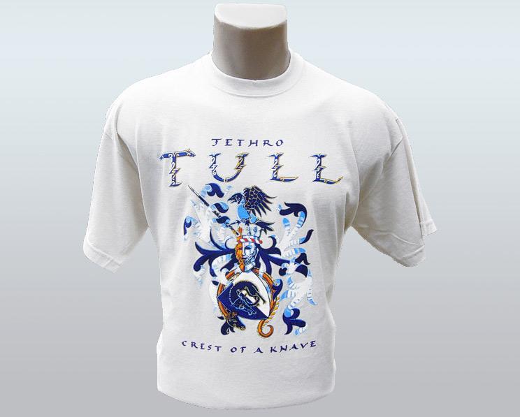Jethro Tull T-Shirt - Crest of a Knave [WHITE]