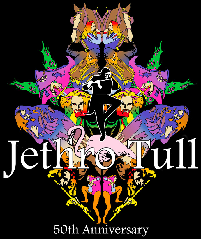 Jethro Tull 2019 50th Anniversary Montage T-Shirt [FRONT]