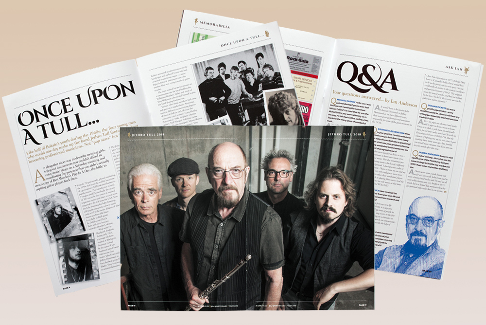 Inside Jethro Tull's 50th anniversary brochure