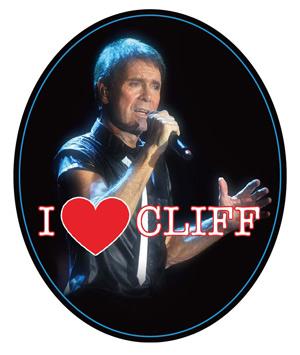 "Cliff Richard fridge magnet with the new 2019""I Love Cliff"" design."