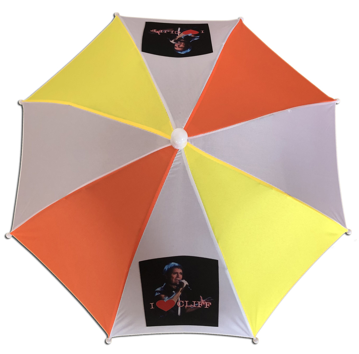 "Fun ""I Love Cliff"" umbrella sun/rain hat"