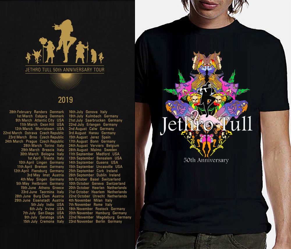 Jethro Tull T-Shirt with 2019 tour dates