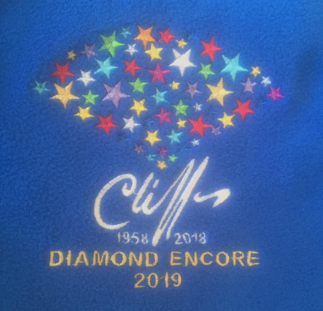 Cliff Richard fleece - royal blue design