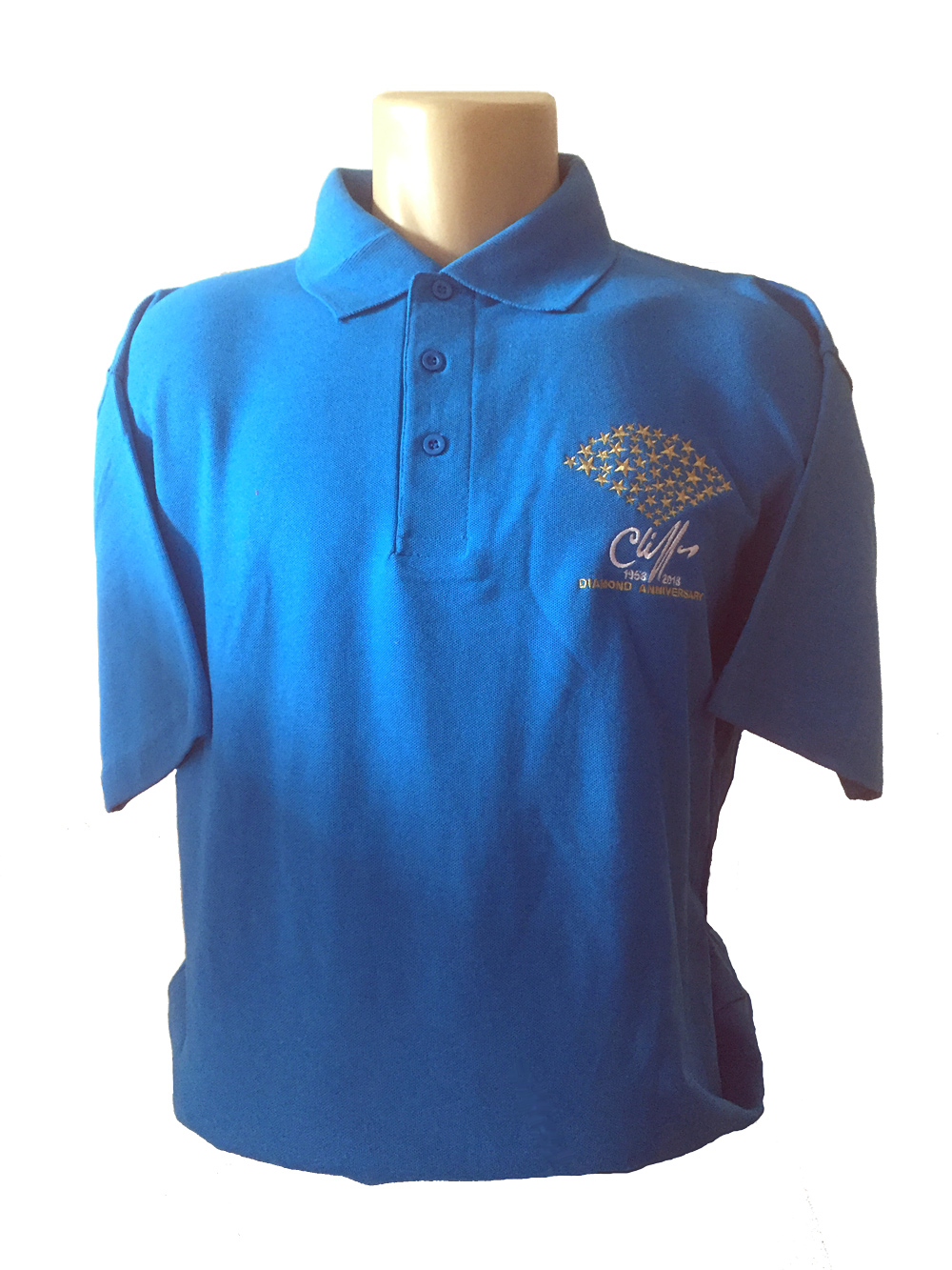 Cliff Richard 2018 Starburst Polo Shirt [BLUE]