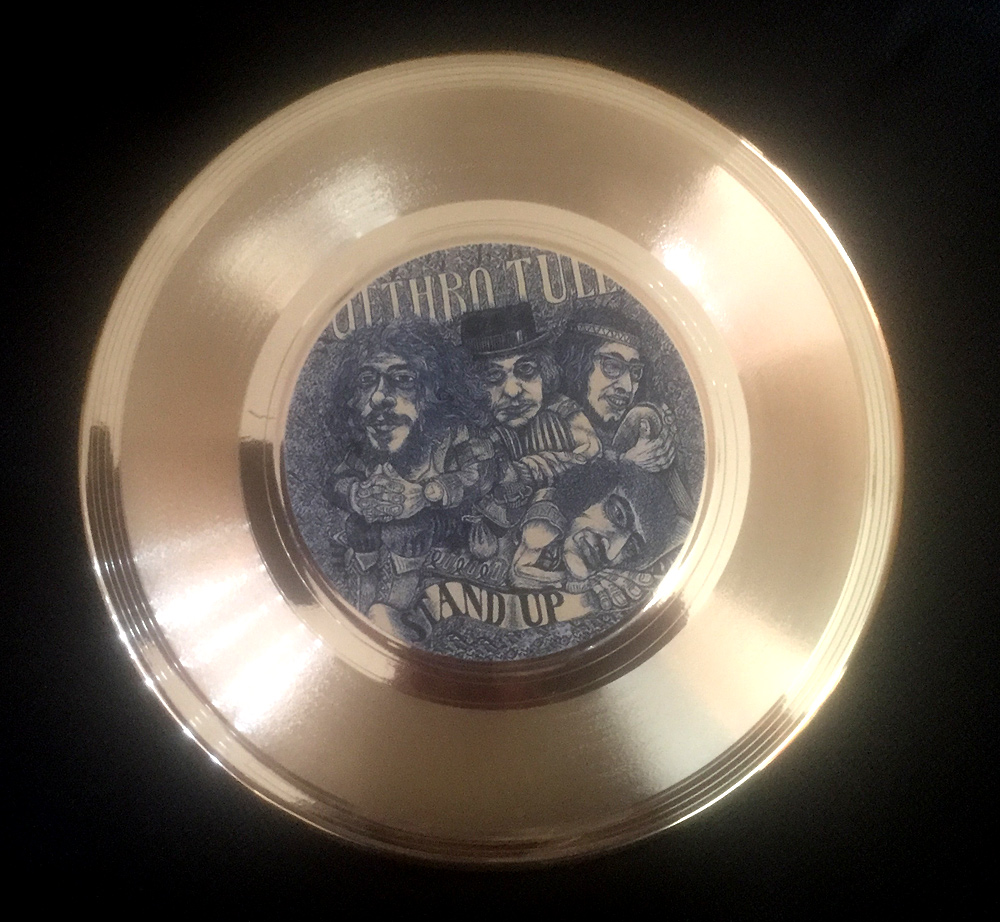 "Jethro Tull 7"" Stand Up Gold Disc"