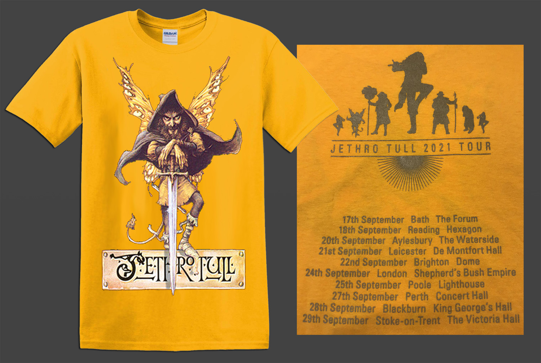 !!NEW!! Jethro Tull Broadsword T-Shirt [GOLD]