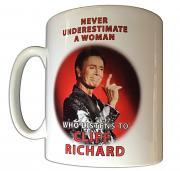 "!!NEW!! Cliff Richard ""Never Underestimate a Woman"" 2019 Mug"