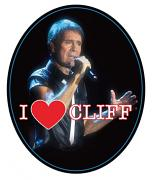 "!!NEW!! Cliff Richard ""I Heart Cliff"" Fridge Magnet"