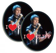 "!!!NEW!! SPECIAL OFFER: 2 ""I Heart Cliff"" Fridge Magnets for £6"