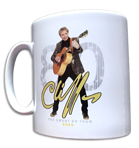 "!!NEW!! Cliff Richard ""The Great 80"" Mug [WHITE]"