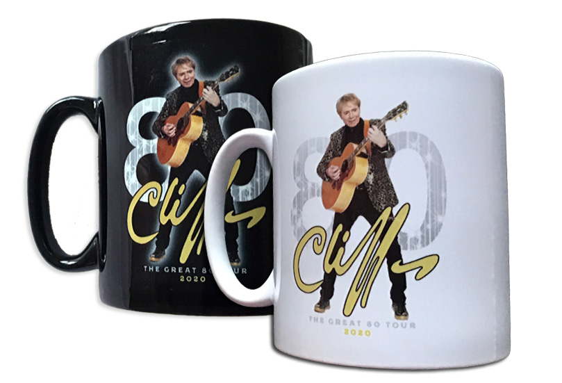 "!!NEW!! Cliff Richard ""Great 80"" Mugs - 2 for £14"