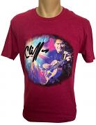 !NEW! Cliff Richard Guitar T-Shirt [Antique Heliconia]