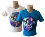 !NEW! Two Cliff Richard Guitar T-Shirts for £30 [WHITE & SAPPHIRE BLUE]