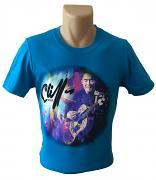 !NEW! Cliff Richard Guitar T-Shirt [SAPPHIRE BLUE]