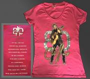 Cliff Richard Ladies Fit V-Neck Great 80 T-Shirt [HELICONIA]