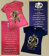 BUY BOTH LADIES FIT V-NECK T-SHIRTS TOGETHER HERE FOR £35 [NAVY BLUE & HELICONIA PINK] - SAVE £5