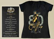 !NEW! Cliff Richard Ladies Fit V-Neck Great 80 T-Shirt [BLACK]