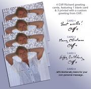 !NEW! Cliff Richard Greeting Cards [1 Pack of 4]