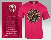!!NEW! Cliff Richard Circle Montage T-Shirt [DEEP PINK] +FREE MONTAGE FRIDGE MAGNET & 4 CLIFF GREETING CARDS